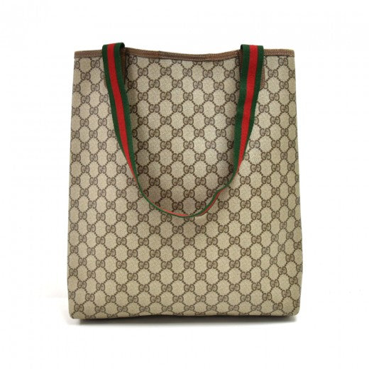 Gucci  Beige GG Supreme Coated Canvas Tote Bag