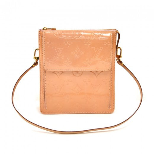Vintage Louis Vuitton Mott Light Orange Vernis Leather Small Shoulder Bag