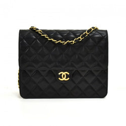 Chanel Lambskin Quilted Square Flap Black