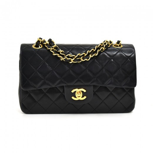 Chanel Lambskin Quilted Small Double Flap Black