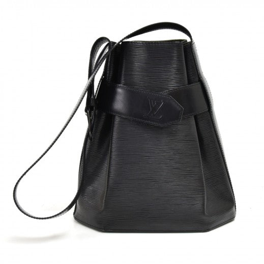 Louis Vuitton Epi Sac A Dos Drawstring Bag Black