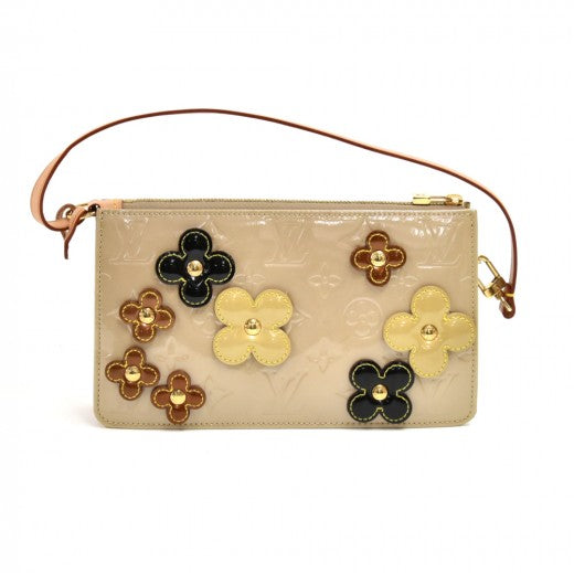 Louis Vuitton Beige Vernis Leather Flower Lexington