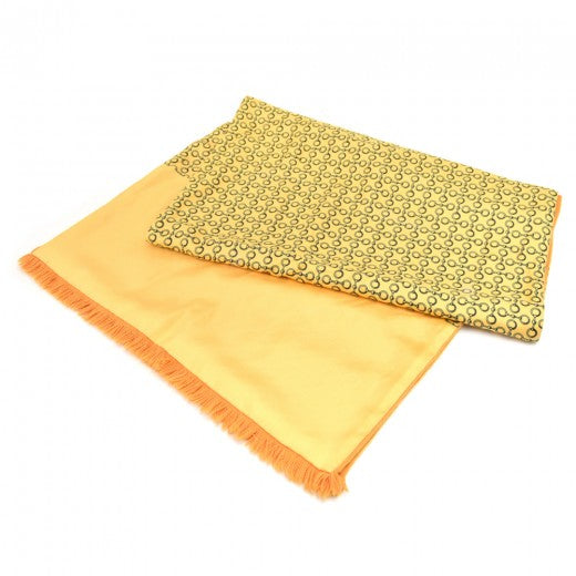 Hermes Yellow Horsebit pattern Angora & Silk Scarf