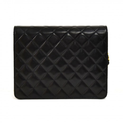 Chanel Lambskin Quilted Mini Square Flap Black