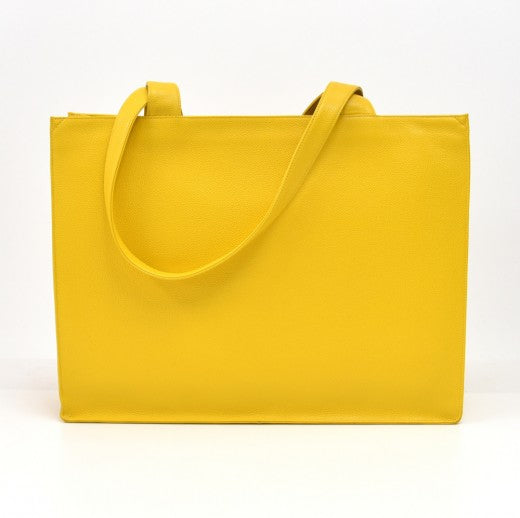 Chanel Caviar X-Large CC Shoulder Bag Yellow