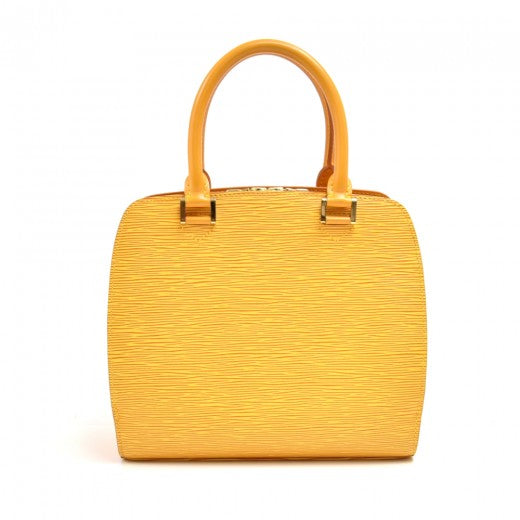 Vintage Louis Vuitton Pont Neuf Yellow Epi Leather Handbag