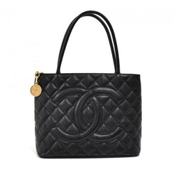 Chanel Caviar Quilted Medallion Tote Black