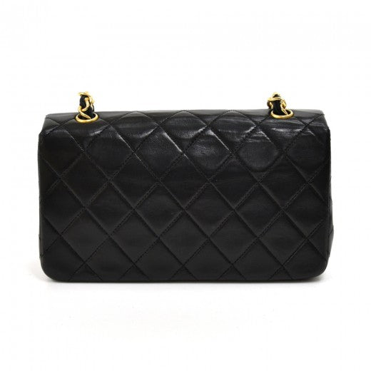 Chanel Lambskin Quilted Mini Flap Black