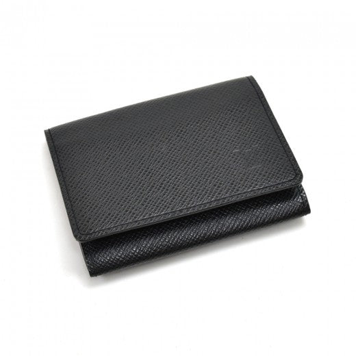 Louis Vuitton Cartes De Visite Black Taiga Leather Card Case