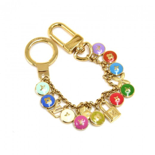 Louis Vuitton Port Cles Pastilles LV Logo Multicolor Bag Charm / Key Chain
