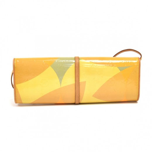 Louis Vuitton Pochette Fleur Vernis Leather Clutch