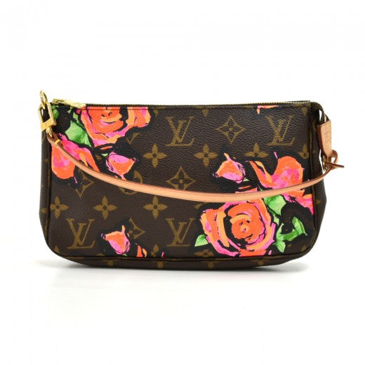 Louis Vuitton Monogram Stephen Sprouse Roses Pochette Accessories