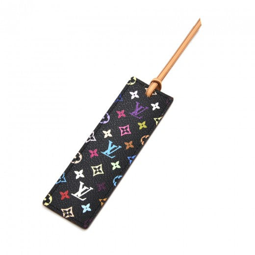 Louis Vuitton Black Multicolor Canvas & Leather Bookmark - Rare VIP Gift Item