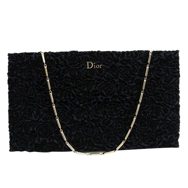 Buy & Consign Authentic Christian Dior Navy Velvet Evening Bag at The Plush Posh