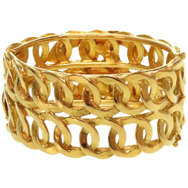Buy & Consign Authentic Chanel Vintage Gold Coco Mark Bangle at The Plush Posh
