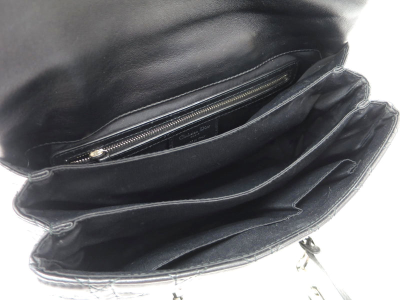 Buy & Consign Authentic Dior Black Cannage Quilted Leather Large New Lock Satchel at The Plush Posh