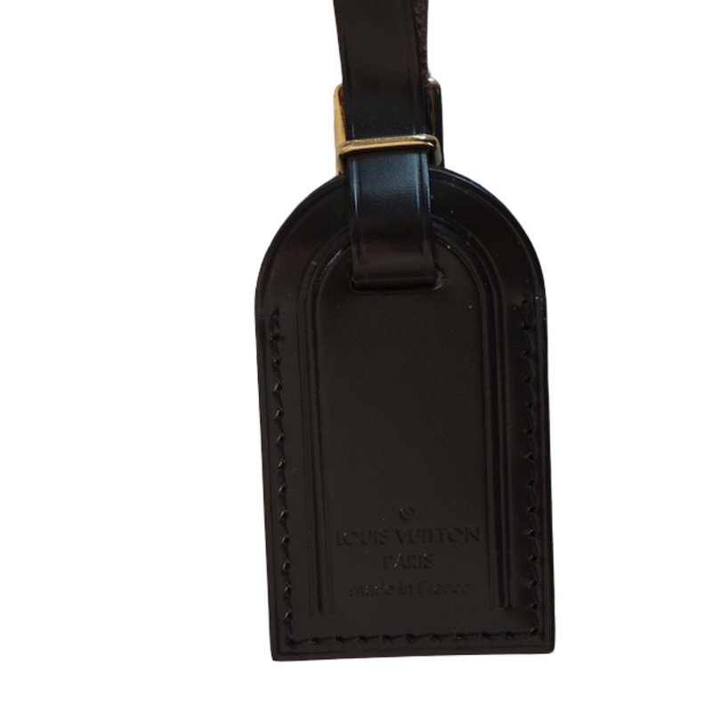 Louis Vuitton Taurillon City Steamer Luggage Tag Brown