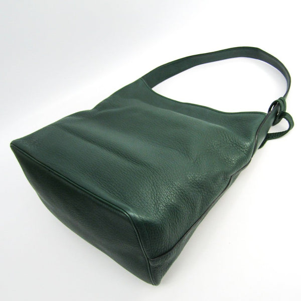 Buy & Consign Authentic Prada Green Leather Tote at The Plush Posh
