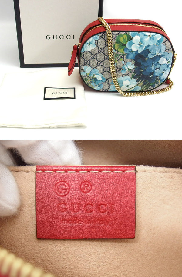 Buy & Consign Authentic Gucci GG Supreme Blooms Shoulder Bag Blue x Red at The Plush Posh