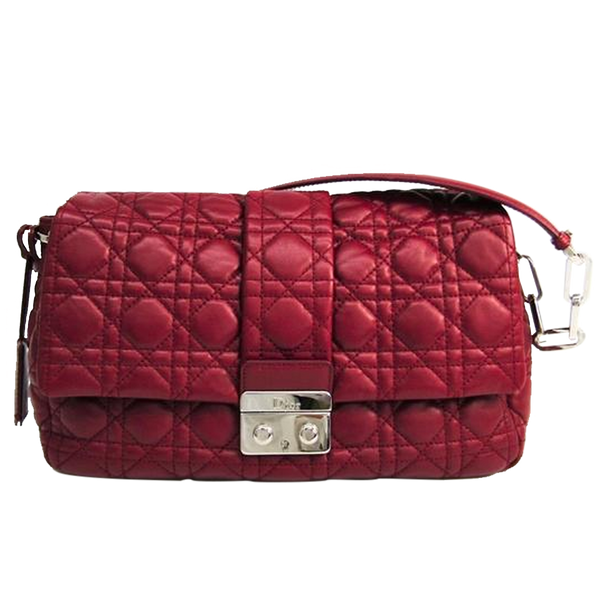 Buy & Consign Authentic Dior Red Cannage Quilted Leather New Lock Flap Bag at The Plush Posh
