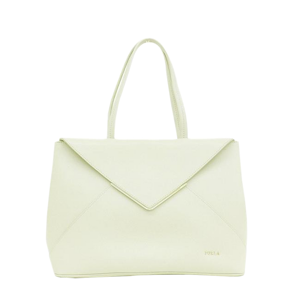 Buy & Consign Authentic Furla White Leather Tote Bag at The Plush Posh