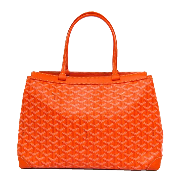 Buy & Consign Authentic Goyard Bellechasse PM Women Canvas,Leather Tote Bag Orange at The Plush Posh