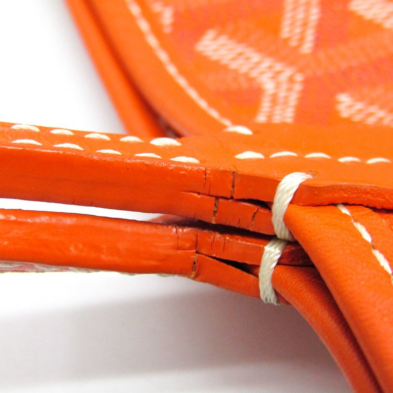 Buy & Consign Authentic Goyard Saint Louis PM Leather,Canvas Tote Bag Orange at The Plush Posh