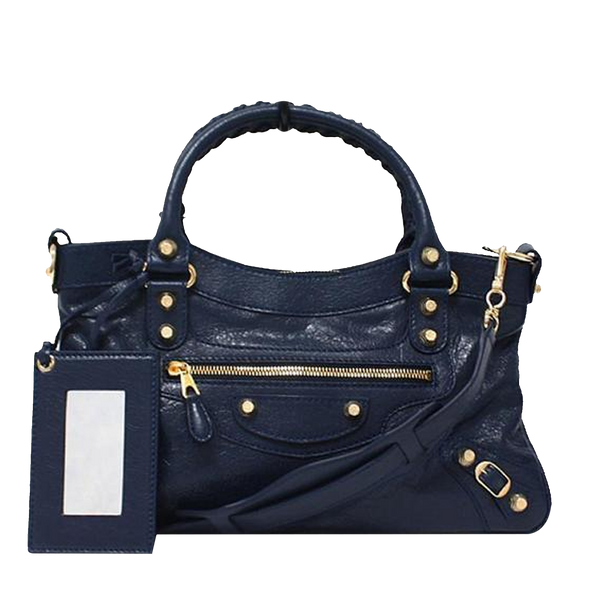 Buy & Consign Authentic Gold Studded Balenciaga Handle Bag at The Plush Posh