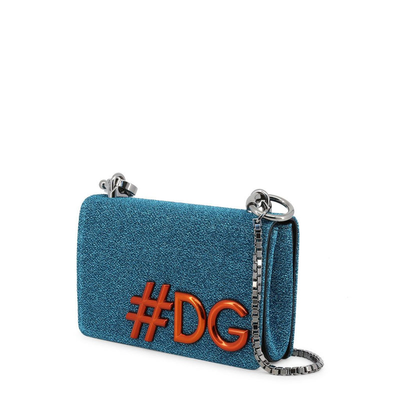 Buy & Consign Authentic Dolce and Gabbana  DG Girls Chain Evening Bag Blue at The Plush Posh