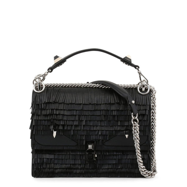 Buy & Consign Authentic Fendi Fringe Kan I Shoulder Bag Black at The Plush Posh