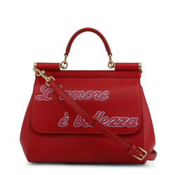 Buy & Consign Authentic Dolce and Gabbana L'amore e' Bellezza Miss Sicily Bag Red at The Plush Posh