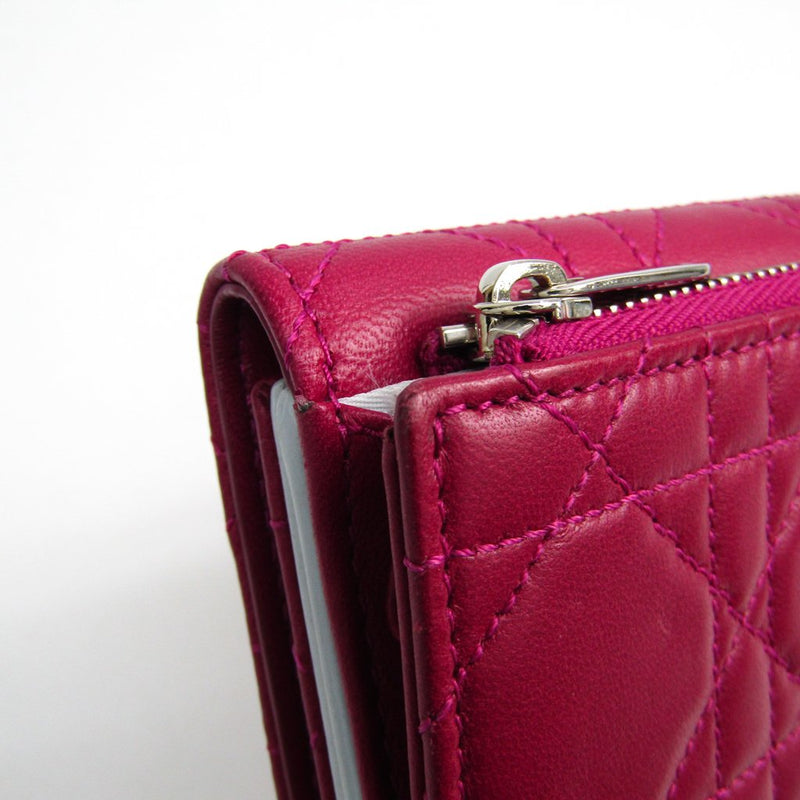 Buy & Consign Authentic Christian Dior Cannage Lady Dior NewLock Wallet Pink at The Plush Posh