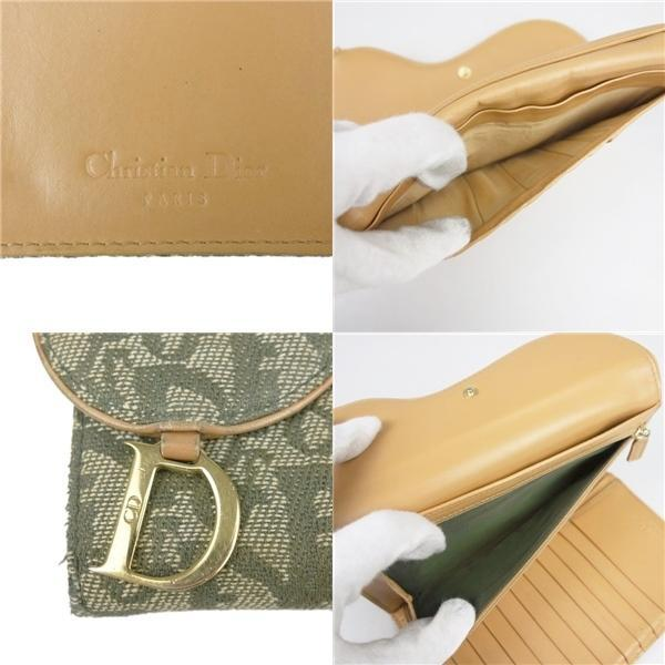 Buy & Consign Authentic Christian Dior Monogram Charms Continental Wallet Khaki at The Plush Posh