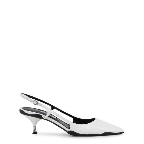 Buy & Consign Authentic Prada Leather Pointed Toe Slingback Sandals White at The Plush Posh