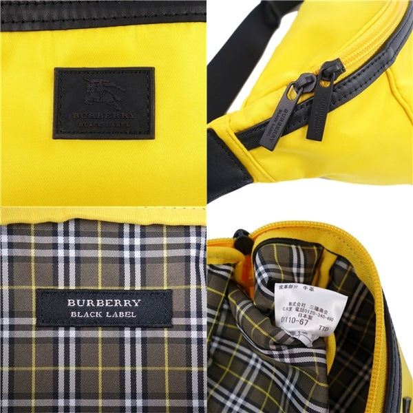 Burberry Black Label Nylon Leather Waist Bag