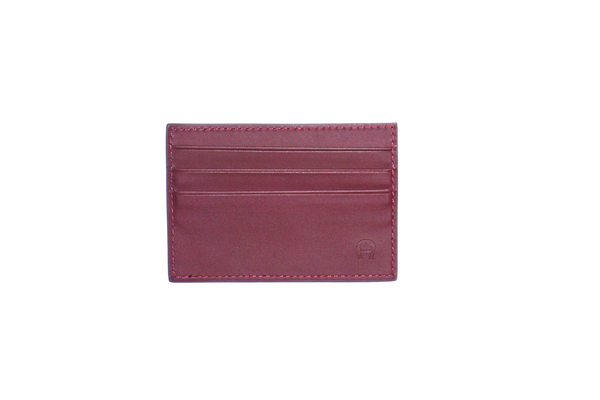 Aigner Card Holder Maroon