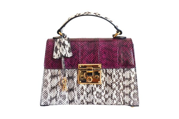 Gucci Small Osiride Snakeskin Handle Bag
