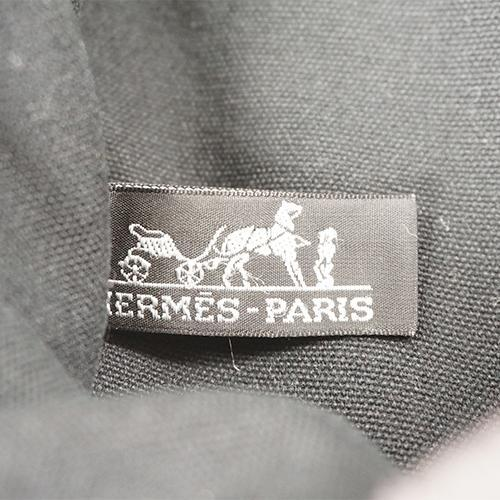 Buy & Consign Authentic Hermes Black Canvas Fourre Tout PM at The Plush Posh