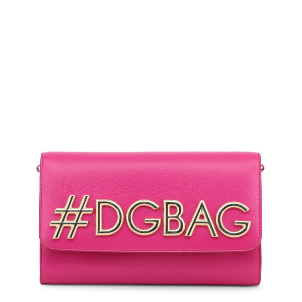 Buy & Consign Authentic Dolce and Gabbana Leather DG Clutch Fuschia at The Plush Posh