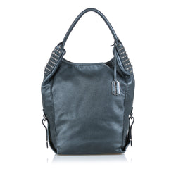 Buy & Consign Authentic Alexander Mcqueen Studded Leather Hobo Bag Grey at The Plush Posh
