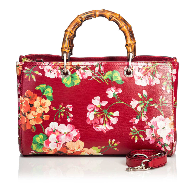 Buy & Consign Authentic Gucci Blooms Bamboo Shopper at The Plush Posh