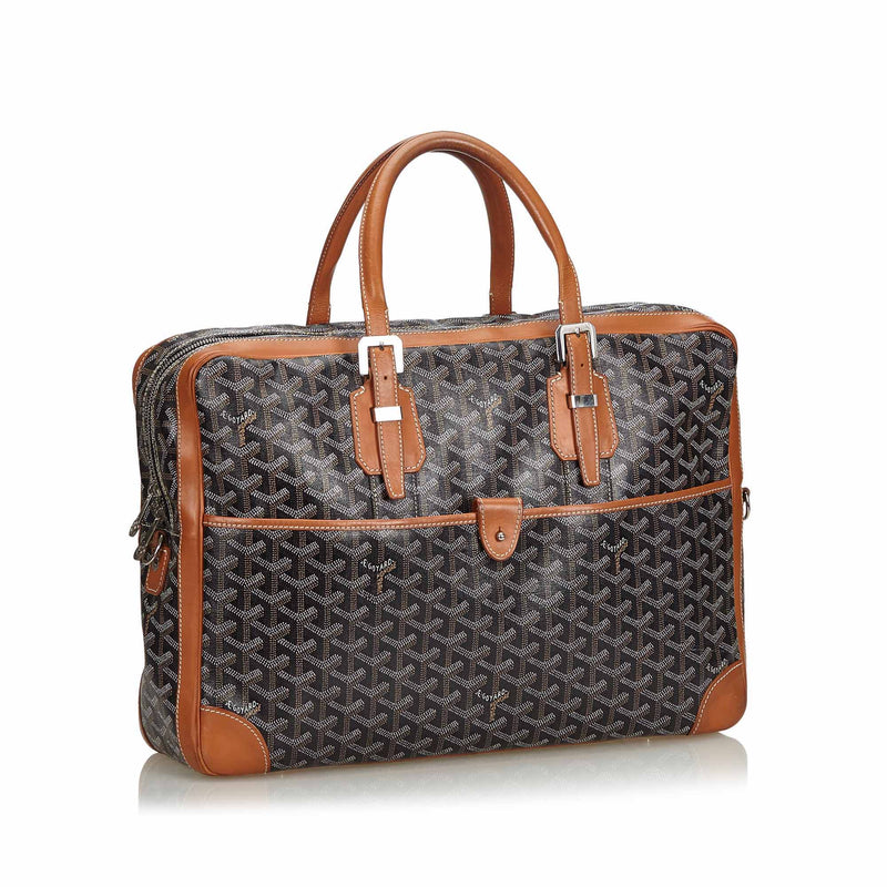 Buy & Consign Authentic Goyard Goyardine Ambassade MM Briefcase at The Plush Posh