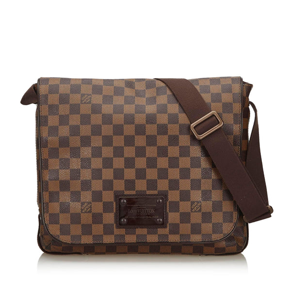 Buy & Consign Authentic Louis Vuitton Damier Ebene Brooklyn MM at The Plush Posh
