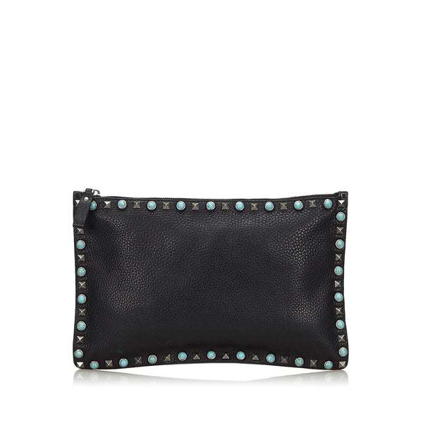 Buy & Consign Authentic Valentino Rockstud Clutch Bag at The Plush Posh