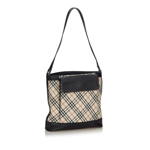 Buy & Consign Authentic Burberry Nova Check Canvas Shoulder Bag at The Plush Posh