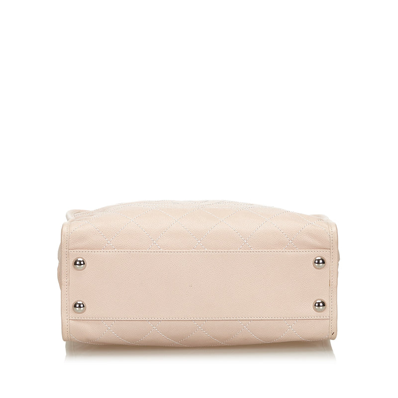 Buy & Consign Authentic Chanel Caviar Deauville Bowling Bag Pink at The Plush Posh