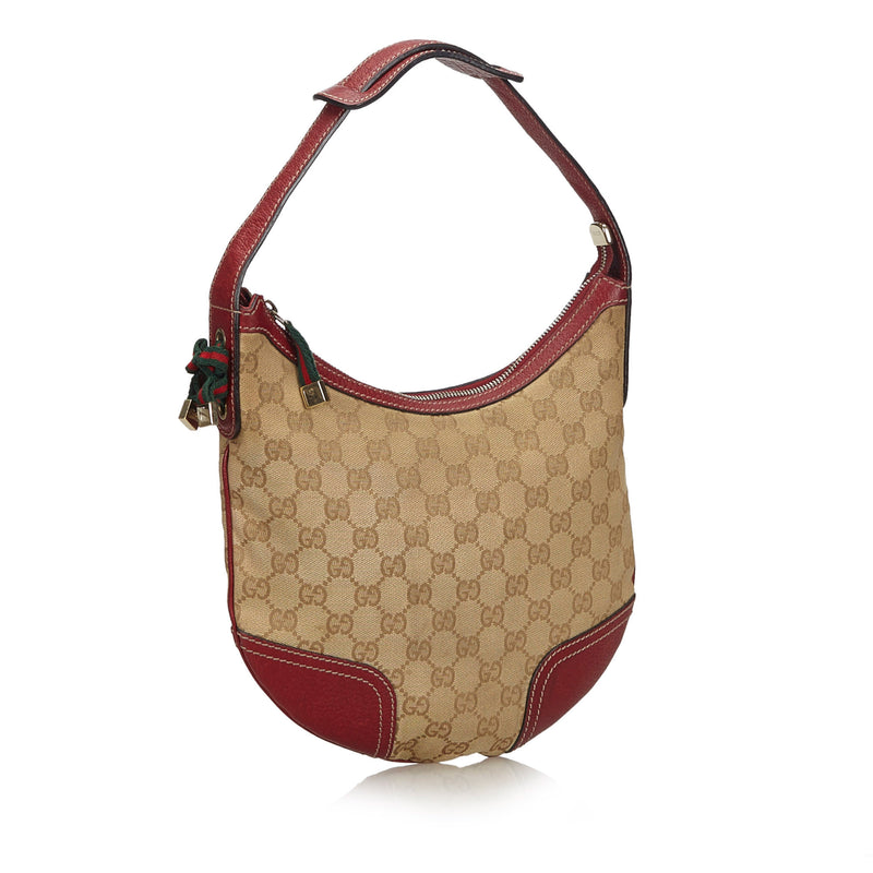 Buy & Consign Authentic Gucci GG Canvas Web Princy Shoulder Bag at The Plush Posh