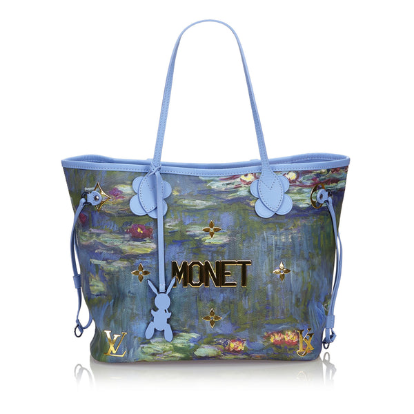 Buy & Consign Authentic Louis Vuitton Limited Edition Coated Canvas Jeff Koons Monet Neverfull MM Bag at The Plush Posh