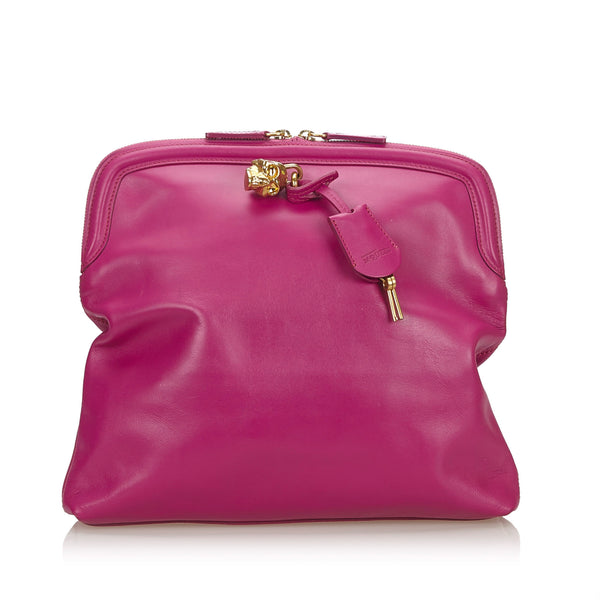 Buy & Consign Authentic Alexander Mcqueen Skull Padlock Fold-Over Clutch Bag at The Plush Posh