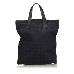 Buy & Consign Authentic Chanel New Travel Line Canvas Tote Black at The Plush Posh